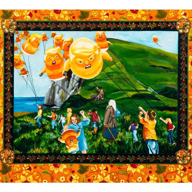 Kathy Halper, Big Baby Balloons, 18x24, Oil on Board, 2018