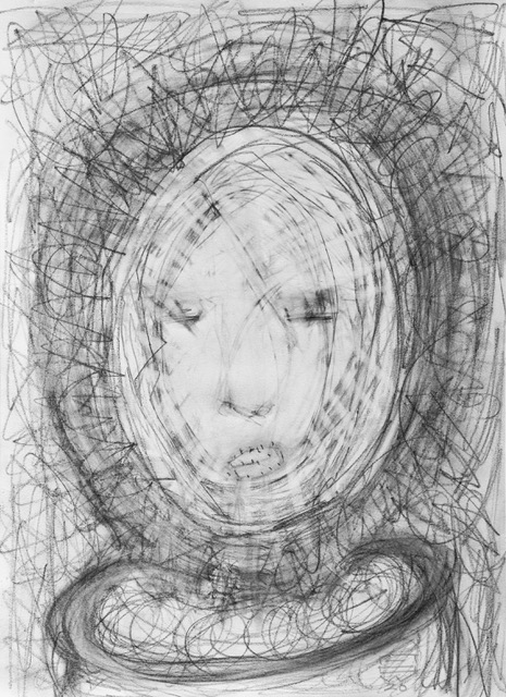 """Face It 9""""x12"""" graphite on paper"""