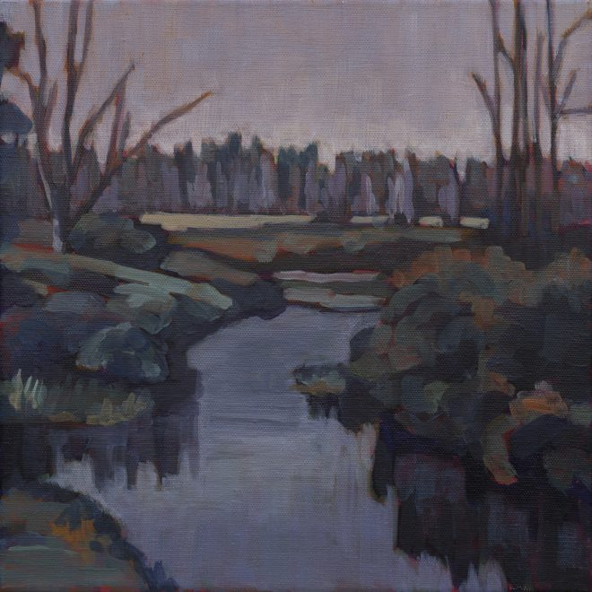 "MDI WATERWAY OIL ON CANVAS 12"" X 12"""