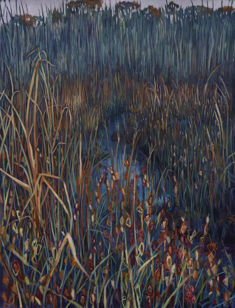 "MUD LAKE BOG OIL ON CANVAS 62"" X 48"""