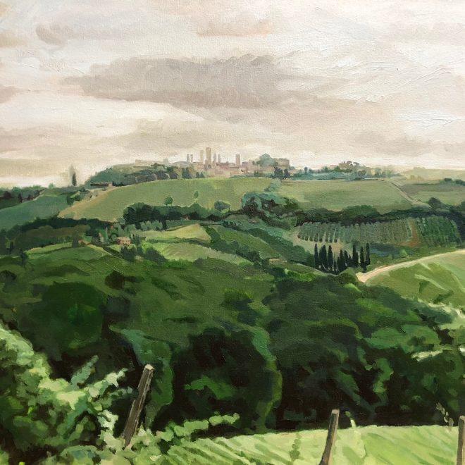 """San Gimignano, Tuscany, oil on canvas, 30"""" x 40"""""""