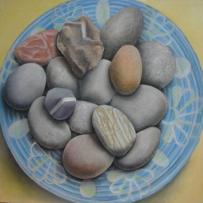 """Mutable Stones IX"" chalk pastel and ink on Arches paper 22"" x 22"""