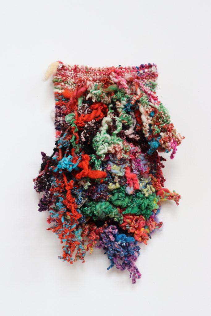 9.21.20-2020-18x11.5-Handwoven hand-spun wool, angelina-fiber-recycled-sari-silk