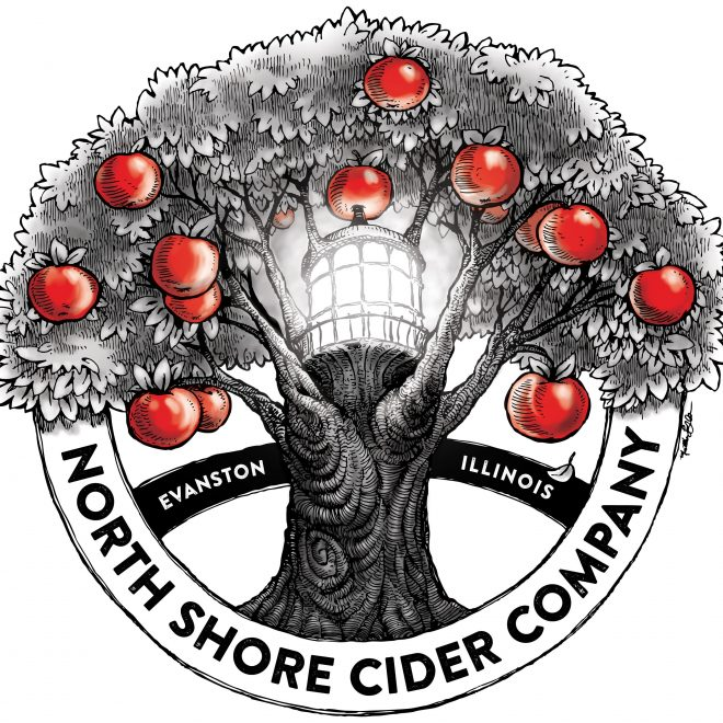 Logo for local Evanston cidery