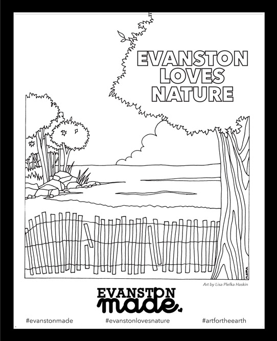 Evanston Made And Citizens Greener Evanston Partner To Launch Evanston  Loves Nature Coloring Book! - Evanston Made
