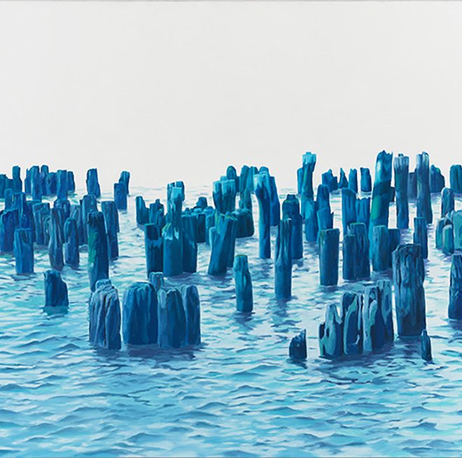 On the Verge, oil on linen, 30 x 60 inches