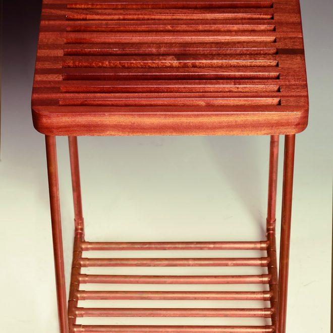 Sapele-Slat-Table