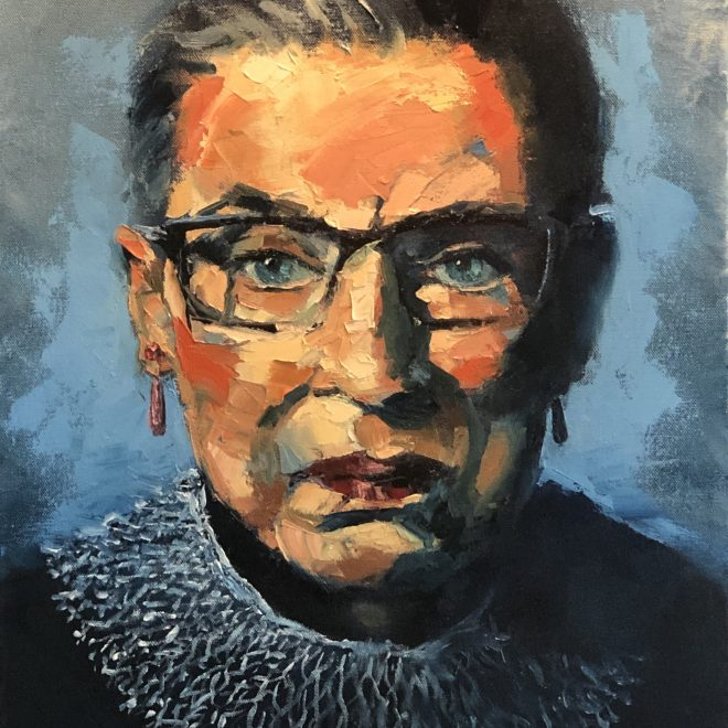 Paul-Brourman-Portrait-of-RBG-The-Tzaddeket