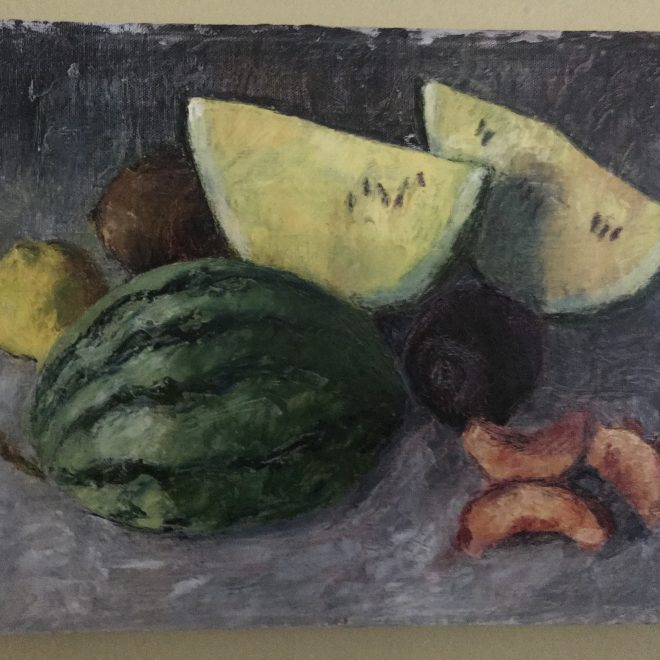 Still-life-watermelon-peach