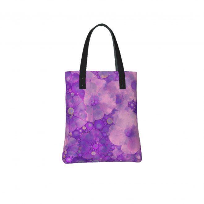 Peeking-Through-Purple-Tote-Bag