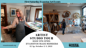 The Evanston Made Artist Studio Tour is BACK! Saturday and Sunday, Oct. 2 & 3., 12-5p