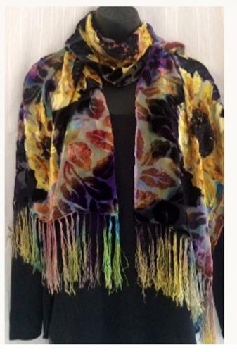 Juli Litzkow<br>Hand dyed one of a kind silks